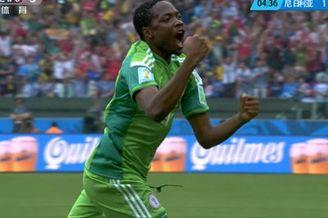 进球视频-尼日利亚闪电扳平 边锋内切兜射远角