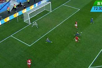 视频-瑞士前场断球3打1 沙奇里左脚劲射中边网