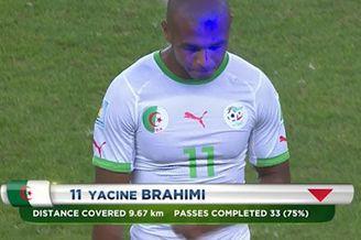 视频-激光笔现身世界杯 韩国队对手被换下遭射