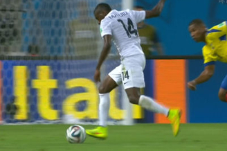 视频-本泽马脚后跟传球 悍将左脚抽射被门将化解