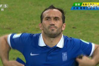 视频-希腊老将耶卡斯点球不进 哥斯达黎加占据先机