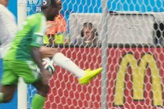 视频-尼日利亚黑神爆射造险 蓝军边锋手球失良机