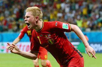 视频集锦-德布劳内传射小魔兽破门 比利时2-1美国