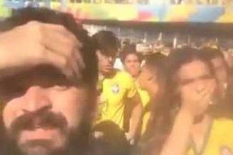 视频-智利球迷看台故意放屁 内马尔女友捂嘴抗议