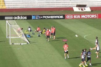 视频-法国训练一幕碉堡!球员门后10米负角度破门