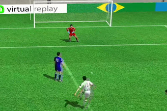 3D进球视频-梅西碎步疾走低射死角 激情狂奔怒吼