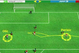 3D进球视频-克罗地亚前场围攻 奥利奇抢点先拔头筹