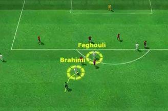3D进球视频-阿尔及利亚撞墙配合 小将推射入网