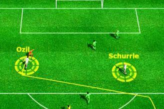 3D进球视频-德国前场连续配合 厄齐尔补射入网