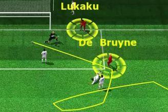 3D进球视频-卢卡库禁区右侧传中 德布劳内冷静施射