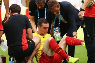 悲剧!比利时大将赛前赛中接连受伤 首战罪人替换上场