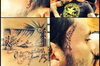 智利前锋纹身纪念错失绝杀巴西:永不痊愈的伤口