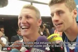西媒曝穆勒嘲讽梅西:把世界杯金球塞进自己屁股吧