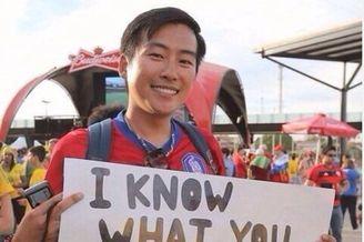 韩国球迷标语讽刺俄靠裁判:都知你们干的好事(图)