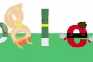 """谷歌涂鸦恶搞罗本假摔 夸张""""跳水""""也太假了(图)"""