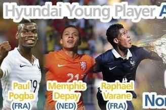 FIFA公布世界杯最佳新秀候选:3将PK 8000万先生入选