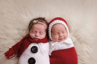 新生儿庆祝第一个圣诞节