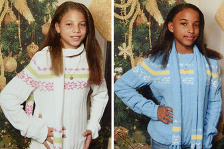 双胞胎因肤色不同受嘲笑