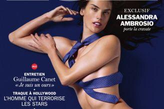 超模全裸登杂志封面
