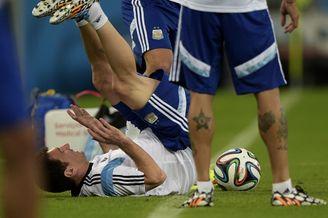 高清图-梅西领衔阿根廷轻松备战