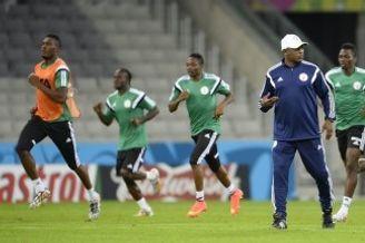 高清图-尼日利亚训练备战世界杯