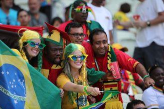 高清图-新浪直击德国加纳球迷PK