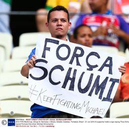 德球迷带上对舒马赫的祝福观赛