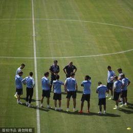 乌拉圭队训练备战淘汰赛