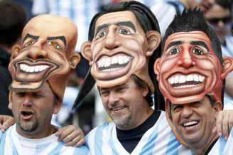 高清图-阿根廷尼日利亚球迷集锦