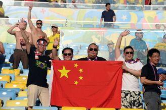 高清图-新浪直击中国国旗亮相马拉卡纳