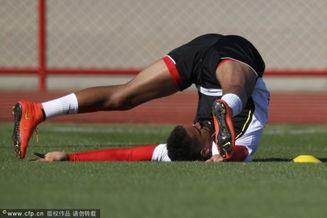 高清图-世界杯加纳训练将战葡萄牙