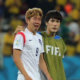 韩国队泪别世界杯