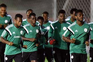 高清图-尼日利亚训练备战淘汰赛