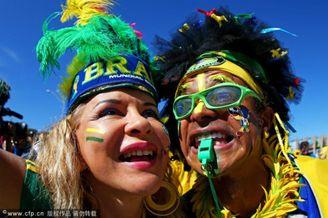 高清图-巴西Vs智利球迷集锦