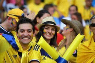 高清图-新浪直击哥伦比亚乌拉圭球迷