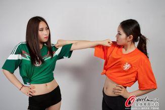 高清图-荷兰墨西哥足球宝贝肉搏战