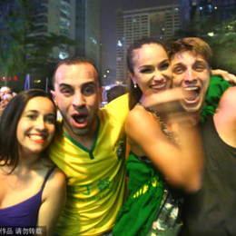 巴西球迷羊城狂欢