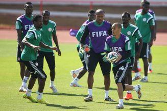 高清图-29日尼日利亚队训练