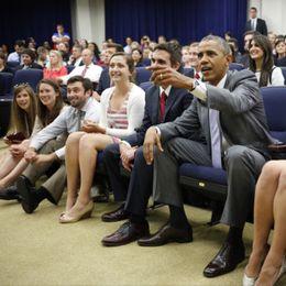 奥巴马白宫组织看球助威美国