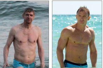 温格变身007邦德!巴西海滩半裸秀胸肌 人鱼线啊(图)