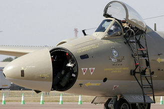 """英国""""堪培拉PR9""""轰炸机导航员"""