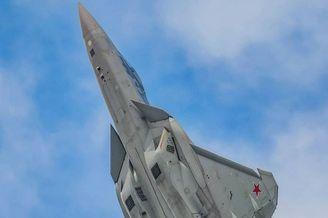 莫斯科航展上的苏-57战斗机