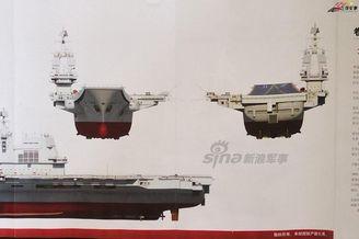 中国第二艘航母三视角逼真CG图