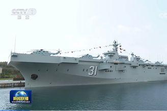 海军三型舰艇在海南集中入列