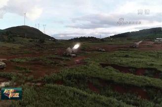 我PLZ-07火炮集群射击弹如雨下