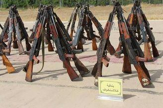 伊拉克缴获军火:中国枪械显眼