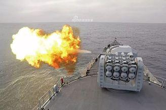 我东海舰队053H3护卫舰猛开火