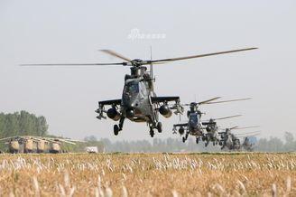 我军陆航直19携直8大机群训练