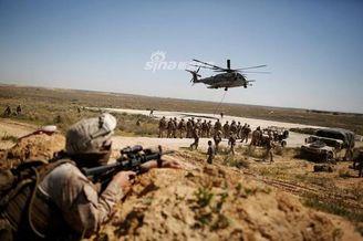 美以联军轻步兵演习为防御导弹