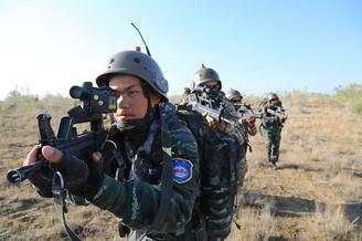 中吉特种部队联合反恐演练结束